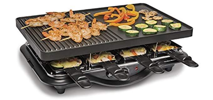 Hamilton Beach Raclette - Non-Stick Searing Grill