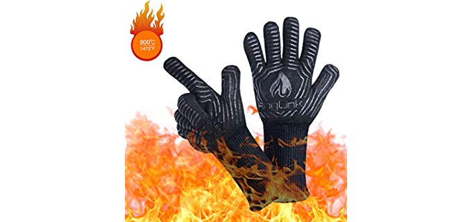 AngLink Heat Resistant - Non-Slip Grill Gloves
