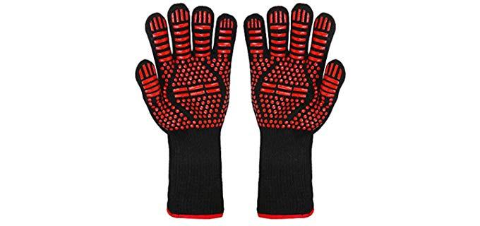 LZX Non-Slip - Silicone Grill Gloves