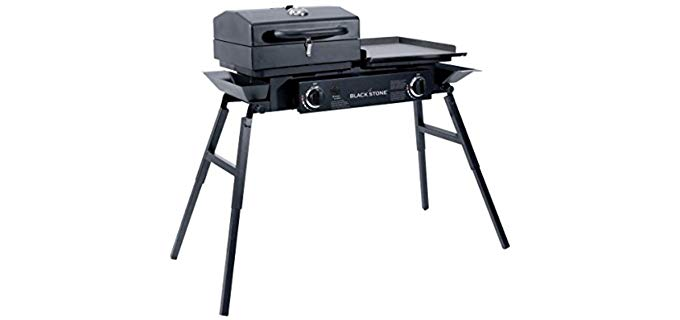 Blackstone Grills Tailgater - Easy Charcoal and Gas Grill Combo