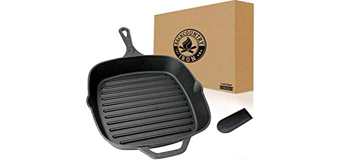 Backcountry Non-Stick - Square Cast Iron Grill Pan