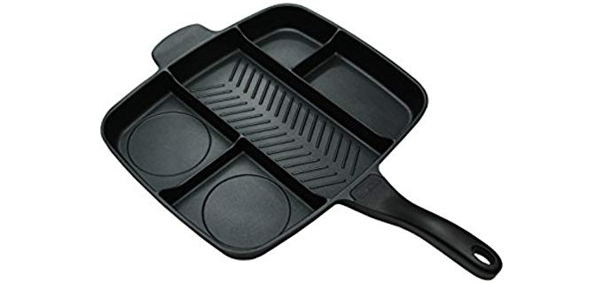 Master Pan Non-Stick - Divided Cast Iron Grill Pan