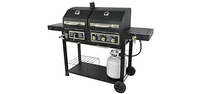 Blossomz Dual Fuel - Combination Gas and Charcoal Hybrid Grill