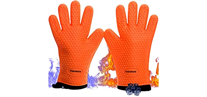 Kitchen Perfection Silicone - Smoker Oven Gloves