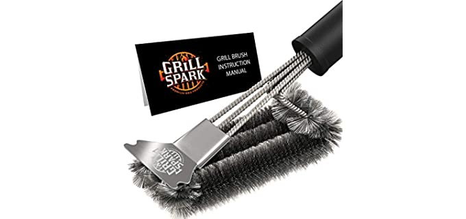 Grill Spark Easy - Grill Brush and Scraper