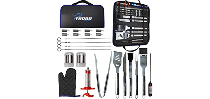 Torro Laser Etched - BBQ Grill Tool Set