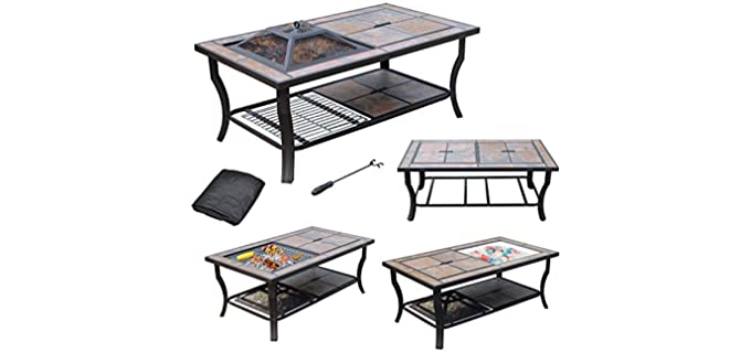 AXXONN 4 in 1 - Fire Pit with Grill