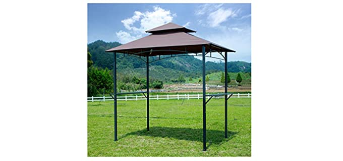 GOJOOASIS 2-Tier - Barbecue Grill Gazebo