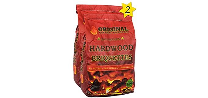 Original Natural Charcoal Hardwood - Pillow Shaped Charcoals
