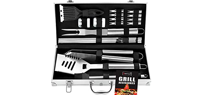 ROMANTICIST 20 PCS - Barbeque Grill Tool Set and Kit